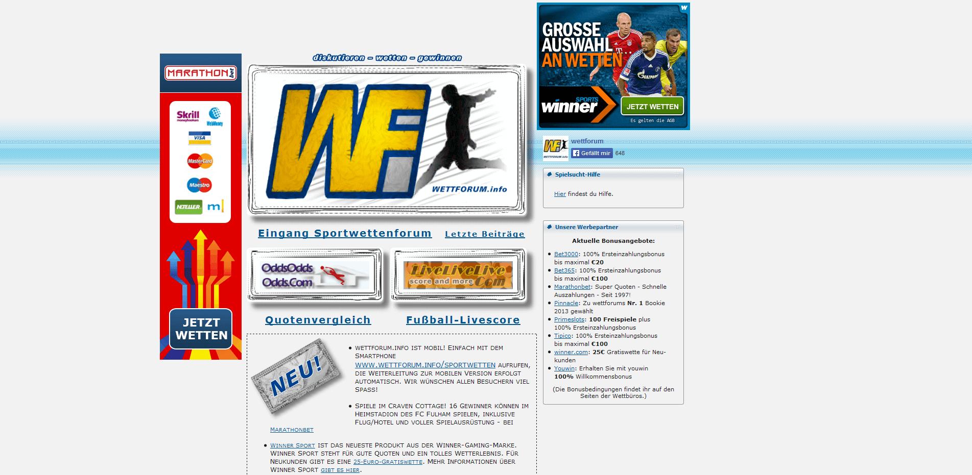 wettforum info sportwetten