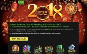 888 Casino Freeplay Angebot