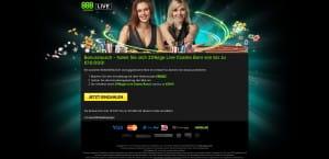 888 Casino Live Casino Bonus