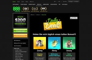 888 Casino Daily Deals