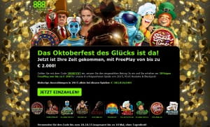 888 Casino Oktoberfest des Glücks