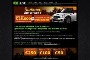 888 Casino Summer Hot Wheels