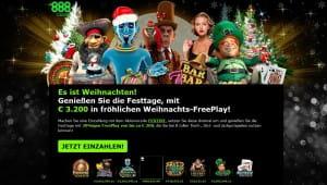 888Casino Weihnachts-Freeplay