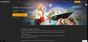 Casino Cruise Willkommenspaket