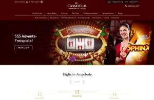 CasinoClub Weihnachtsprogramm