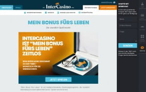 Intercasino Bonus for Life