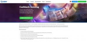 Quasar Gaming Cashback Sonntag