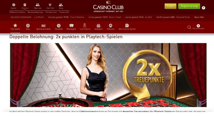 Casino Club Treuepunkte
